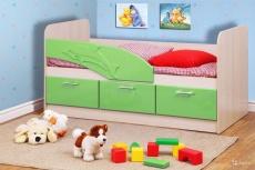 Детская кровать Дельфин (Эвкалипт Металлик)