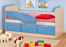Детская кровать Дельфин (Голубой Металлик)