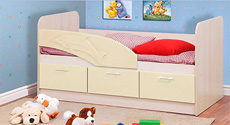 Детская кровать Дельфин (Ваниль)